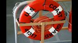 A life saver ring is shown June 13, 2002 aboard a Coast Guard boat on patrol in Honolulu Harbor, Hawaii.