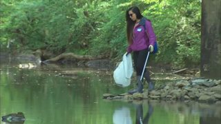 Sweep the Hooch volunteers clean area waterways