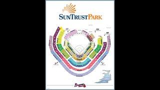 Atlanta Braves Suntrust Park Map Seating Chart Gates And
