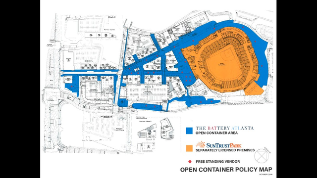 Battery Atlanta Map.Suntrust Park The Rules Of Open Container Tailgating At Braves
