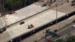 FINAL COUNTDOWN: Crews begin striping lanes of I-85