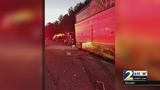 Worker nearly runs over emergency workers along I-285