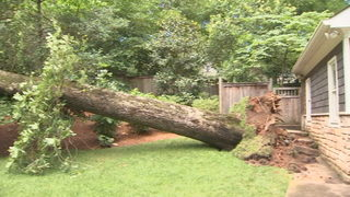 Storms knock down trees onto homes, cars across north Georgia