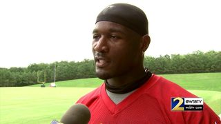 RAW: Derrick Coleman, deaf Falcons player, talks about overcoming challenges