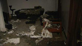 Apartment ceiling collapses, destroys families