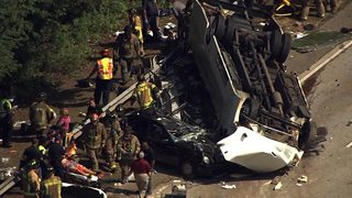 9 remain hospitalized day after deadly church bus crash