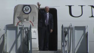 Vice President Mike Pence arrives in Marietta for visit