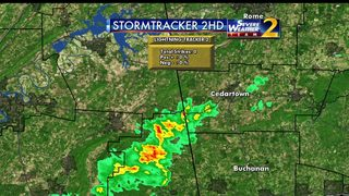 Approaching cold front brings the chance for more storms Monday