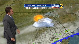 Partly cloudy start to Sunday