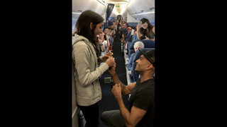Long-distance couple gets engaged on flight from Atlanta to Boston