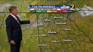 Clear to partly cloudy Monday evening ahead