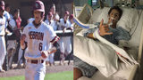 The teen son of former Braves infielder Keith Lockhart was hospitalized after he was hit in the face by a baseball.