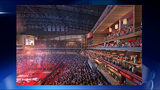 Rendering of Phillips Arena remodel.