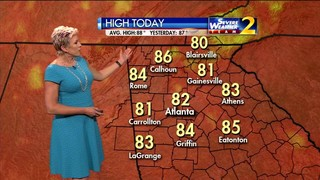 Showers possible Thursday afternoon