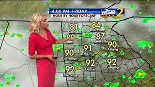 Pop-up showers, storms for your Friday
