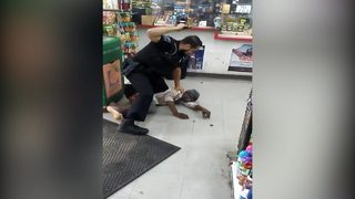 VIDEO: Officer uses baton to beat woman he says was resisting arrest