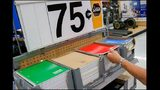 School supplies are displayed for sale at a Wal-Mart Stores Inc. location in the Porter Ranch neighborhood of Los Angeles, California, U.S., on Thursday, August 6, 2015.