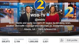 @WSBTV hits 1 million Twitter followers