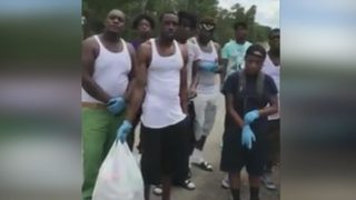 Neighbor amazed to find group of Georgia teens cleaning up neighborhood