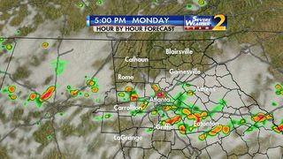Isolated storms expected throughout Sunday evening