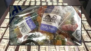 Items in stolen car: 50 lbs. of drug-laced candy, 100g of marijuana, $8K