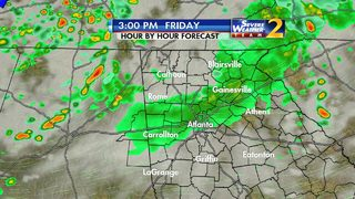 Showers, storms ahead for Friday evening