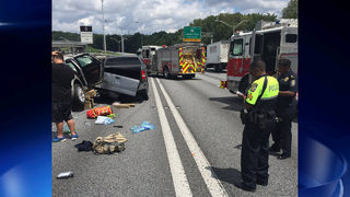 1 killed, 3 injured while changing tire on interstate