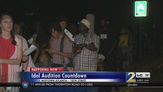 Hundreds line up for American Idol auditions in Atlanta