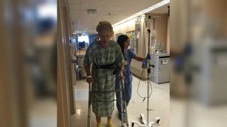 Man says he nearly died from flesh-eating bacteria after beach trip