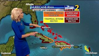 Hurricane warning remains in affect for Bahamas, plus new hurricane watch alerts