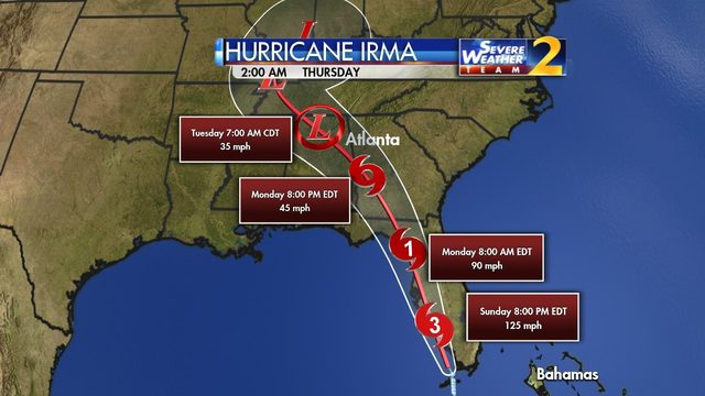 HURRICANE IRMA GEORGIA Tropical Storm Warning Issued For Parts Of - Georgia map for irma