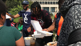 Local rappers, record label serve meals to homeless during