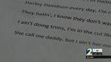Teacher out of classroom after homework assignment using explicit lyrics