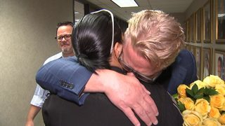 Man thanks officers who saved his life from flesh-eating bacteria