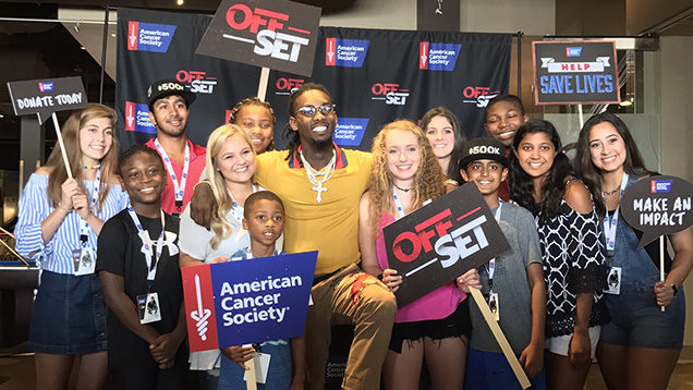 Rapper offset of migos raising 500k for cancer in honor of rapper offset of migos announced an alliance with the american cancer society during a private event in cobb county tuesday m4hsunfo