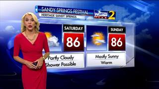 Partly cloudy, possible shower on Saturday for Sandy Springs Festival