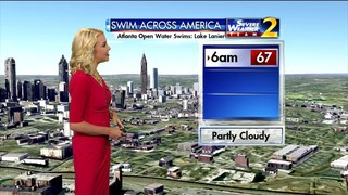 Partly cloudy skies for Swim Across America