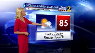 Partly cloudy skies with minimal rain chances for North Georgia state fair