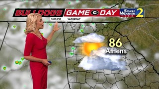 Partly to mostly cloudy skies for UGA Football Game