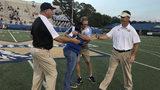 McEachern High School presents Camden County High School with $3000 for hurricane relief.