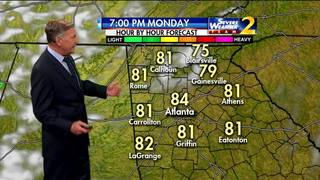 Temps in mid 70s to low 80s for Monday evening