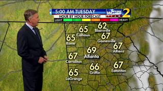 Mid to upper 60s to start Tuesday morning