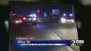 Police officer recovering after being hit by an alleged drunk driver