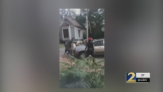 Police searching for driver who plowed through a group of teens fighting