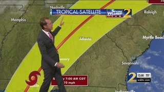 Tropical Storm Nate S Forecast Path Shifts East Into Georgia