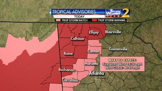 Tropical Storm Nate to bring gusty wind, rain to parts of Georgia