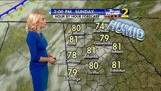 Muggy Sunday morning ahead