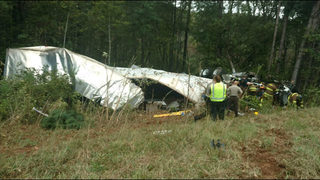 Police: Semi-truck crash on I-85 kills woman, baby