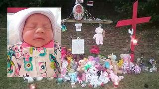 Loved ones heartbroken memorial for missing 2-week-old baby removed