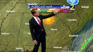 Lots of sunshine, temperatures in low 70s Wednesday afternoon